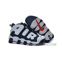 "Womens Nike Air More Uptempo Girls ""Olympic"" Midnight Navy/White-Red Sale Xmas Deals NimEB"