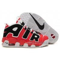 "Cheap Nike Air More Uptempo ""Hoop"" Varsity Red/Black-White Discount JD5T4"