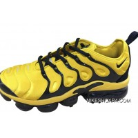 Mens Nike Air Vapormax Plus Shoes Yellow/Black Outlet