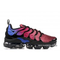 Womens Nike Air Vapormax Plus Shoes Black/Black/Team Red/Hyper Violet Ao4550-001 Copuon