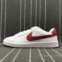 NIKE COURT ROYALE SL 844802-103 White Red Super Deals