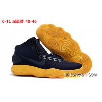 Nike Hyperdunk 2017 Navy Blue Yellow Top Deals