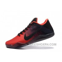 Nike Kobe 11 Achilles Heel Red Black Basketball Shoes 7 Days Delivery