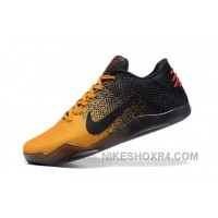 Discount Men Nike Kobe 11 Low Yelow Black And Red Size Us 7 To Us 12 BdhK2