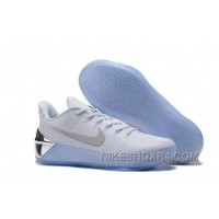 Cheap Nike Kobe A.D. 12 Limited Edition White Silver Discount 4pJREQM