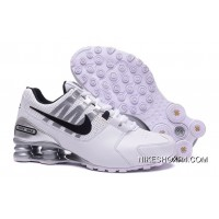NIKE Shox Avenue 803 PU Men Shoes White Discount