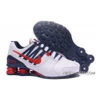 NIKE Shox Avenue 803 PU Men Shoes White Navy Authentic
