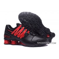 NIKE Shox Avenue 803 PU Men Black Red Super Deals