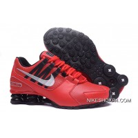 NIKE Shox Avenue 803 PU Red Men Shoes Online