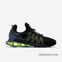 Mens Nike Shox Gravity Black/Gorge Green/Hot Lime/Black Top Deals