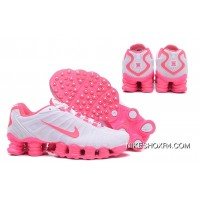 Nike Shox TLX 0018 Women White And Pink Swoosh Best