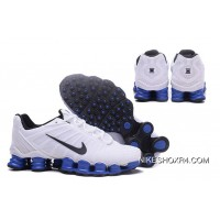 Nike Shox TLX 0018 Men White Blue Top Deals