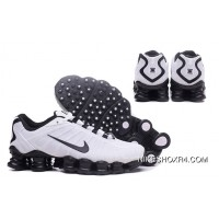Nike Shox TLX 0018 Men White And Black Swoosh Best