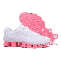 Nike Shox TLX Women Shoes 2018 New White Pink Online