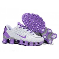 Nike Shox TLX Womens White Purple