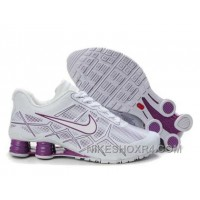 Nike Shox Turbo 12 Womens Leather White Purple