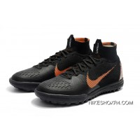 12 TF MD NIke SuperflyX 6 Elite TF Black Discount