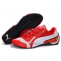 Men's Puma Future Cat Low In Red/White Free Shipping
