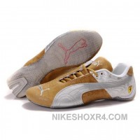 Men's Puma Future Cat Shoes Sand Silver Free Shipping