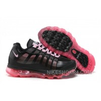 2014 New Nike Air Max 95 360 Womens Shoes Black Rosa Authentic Cb47X