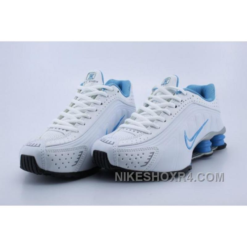 f283a2b94619 ... clearance women nike shox r4 white blue 2016 in stock itz8b 7df08 4af28