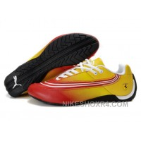 Black Friday Deals Puma Ferrari Leather Shoes Yellow/Red/White MniCA