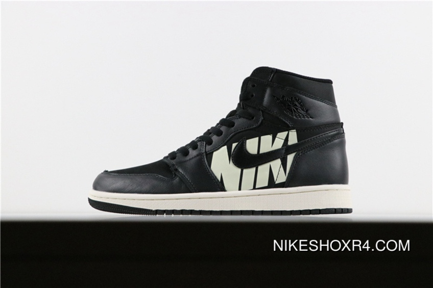 HyxAir Jordan Air 1 Paired With Black Font 555088-001 Top Deals ... 084f2e287