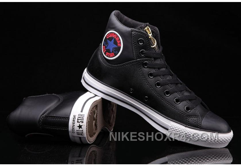 672e4e449b9385 Black Hi Tops CONVERSE CT Embroidery Padded Collar Leather All Star Online  Ny7yp