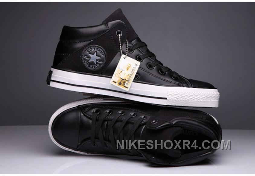 f0b08ea15fdf Black High Tops CONVERSE Leather Padded Collar Terminator Genisys Chuck  Taylor All Star Super Deals HASZE
