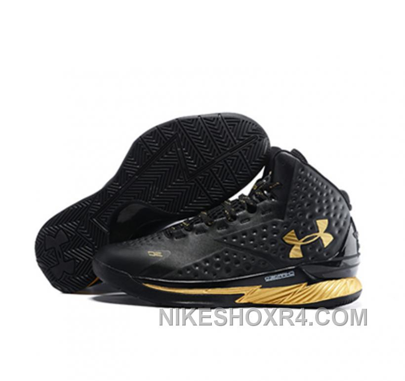 Under Armour Stephen Curry 1 Shoes Mvp Black Golden New ...