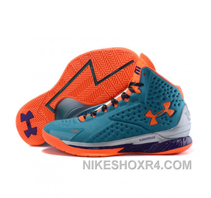 Under Armour Stephen Curry One Shoes Blue Orange New 2017