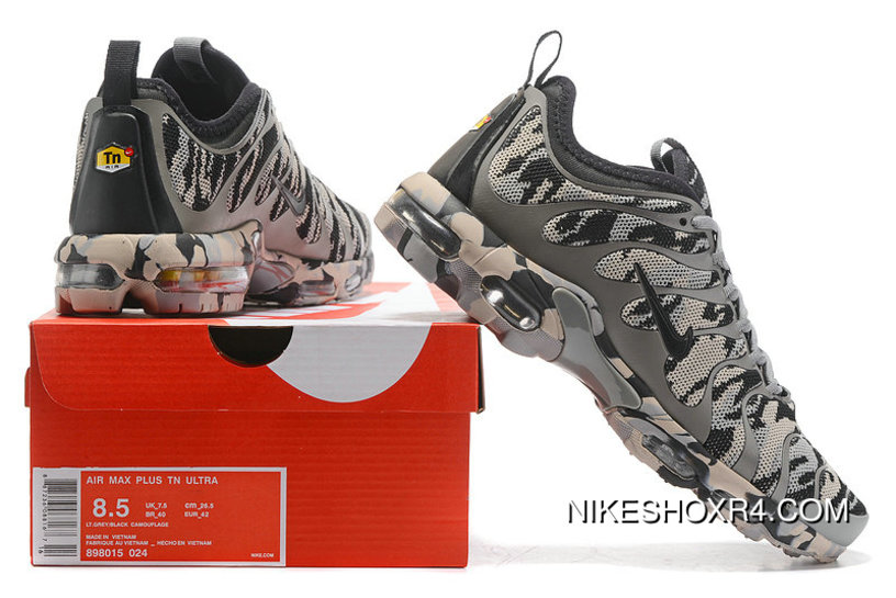 6081b9ad2838c Nike Air Max Tn Plus Camo Mens Grey Army Green For Sale, Price ...