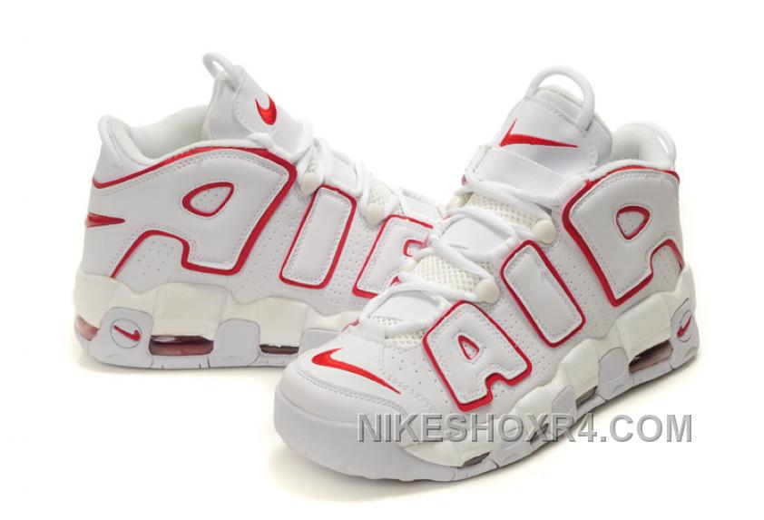 AIR MORE UPTEMPO - Sneaker high - white/university red/black Sie Günstig Online Qualität Spielraum Fälschung Kaufen Online-Verkauf Billig Verkauf Kauf Großhandel neMbtq9cfK