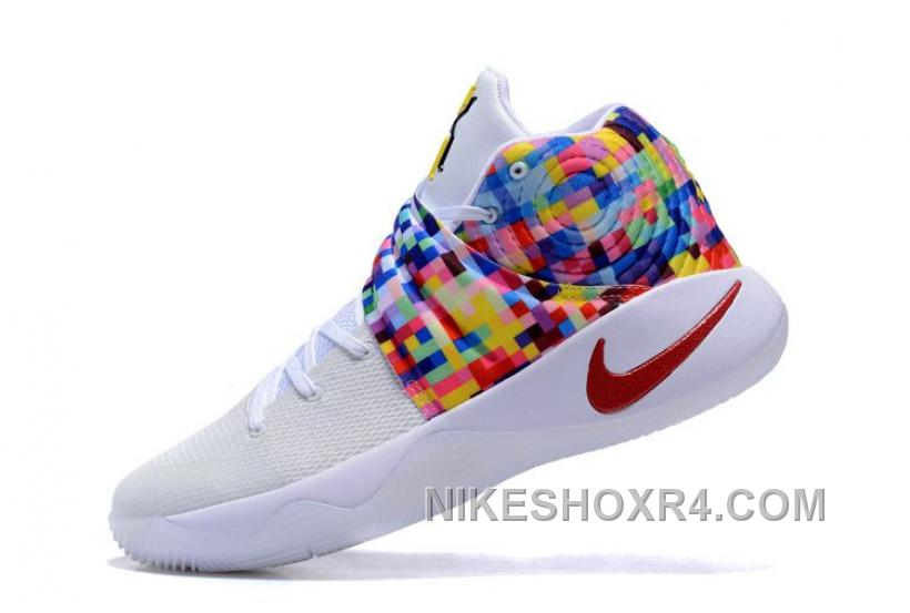 "Nike Kyrie 2 ""Effect"" White-Red/Multi-Color Sale Rabais XHMeF"
