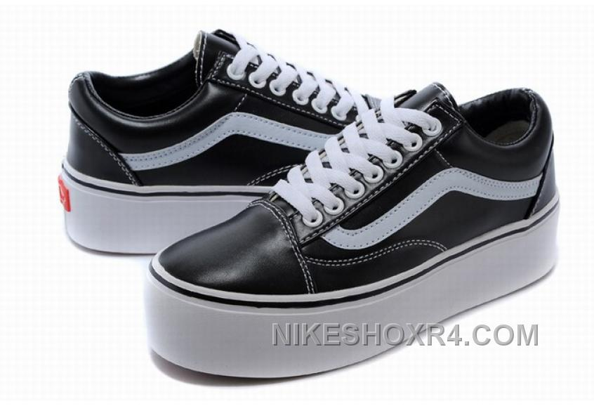 Vans Old Skool Classic Platform Black White Womens Shoes New Release 3riRSAQ
