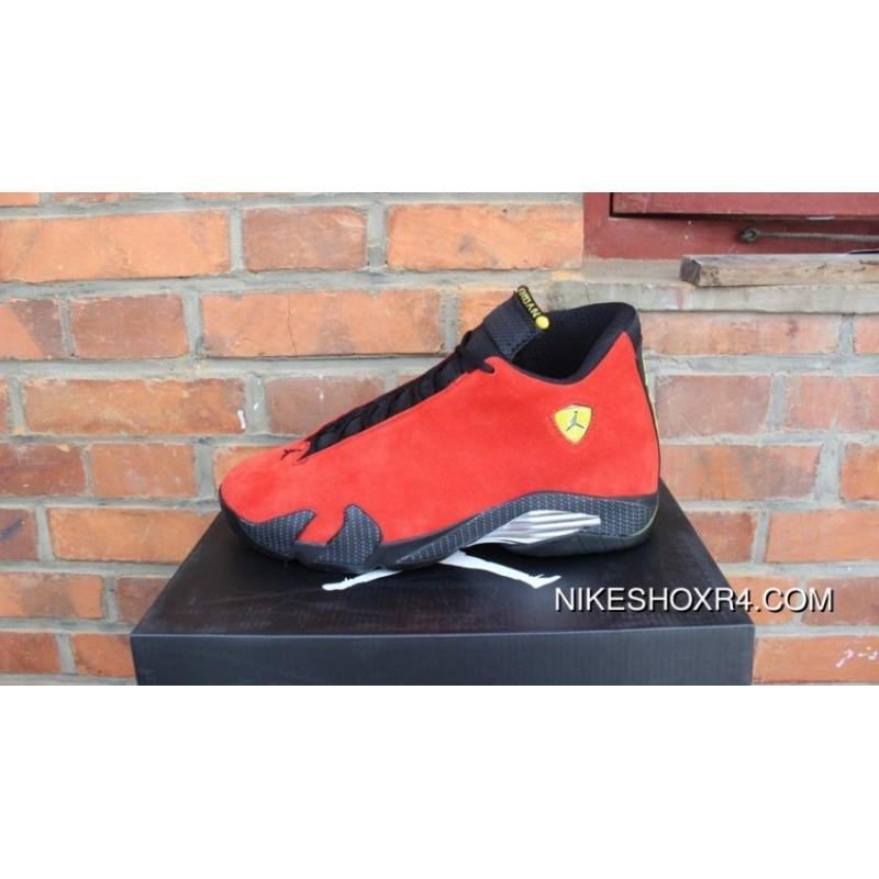 78ef961bcd8d All Air Jordan 14 Ferrari Red Suede Standard Ferrari 654459-670 ...