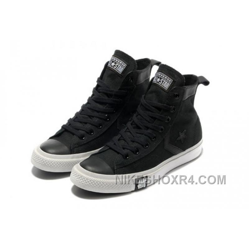 e31c1bba24f3 Black CONVERSE High Tops All Star Canvas Simple Slip Shoes Authentic ...