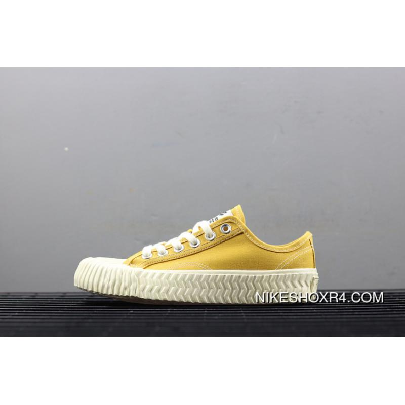 e7795a6d7508 ... Excelsior New Card Color Korean National Tide Shoes Caramel Biscuits  Canvas Shoes Raw Rubber Yellow Super ...