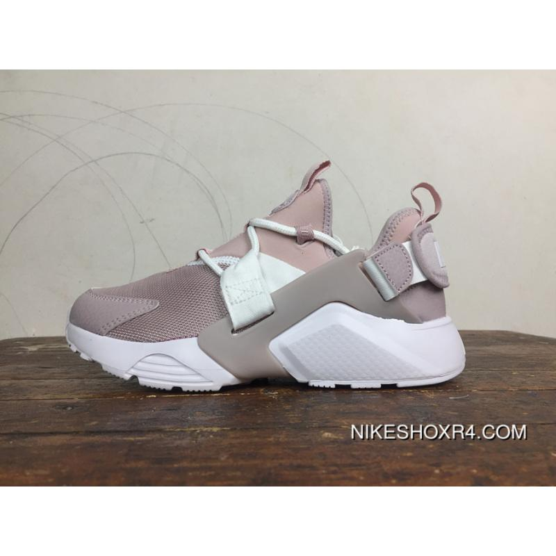 7dcefd3fb78 Nike Huarache 5 AIR CITY LOW Red Bean Pink Heels Velcro Can Change After  AH6804-600 Online
