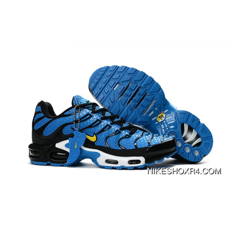 best service 6b0c0 3efe4 Customize Nike Tn Shoes Nike Air Max White Yellow Blue Black White ...