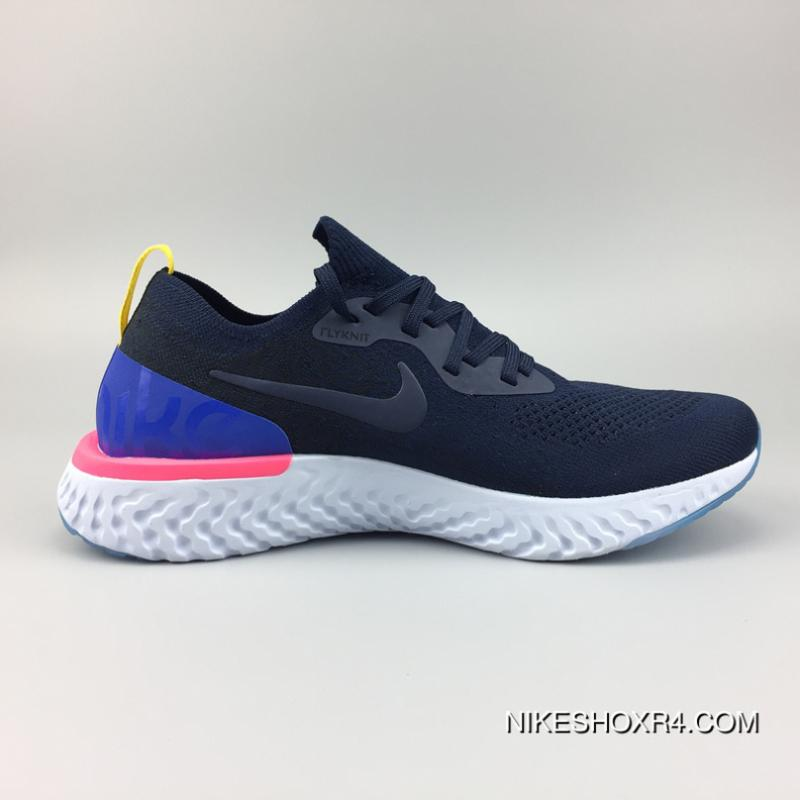 a67b2dd99d37 Nike AQ0067-400 Epic React Flyknit New Technology Super Running Shoes  Picking 18 Epic React ...