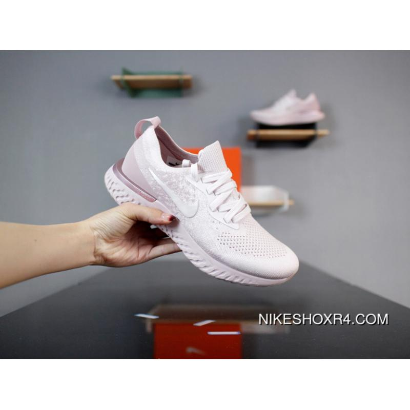 Nike Epic React Flyknit AQ0070-600 Pink Purple Maria IP Injection Outsole  Flyknit Right Upper ... 803b3688d84f