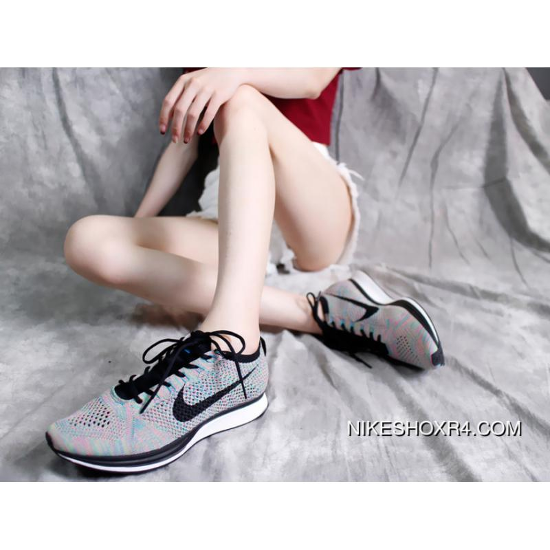 reputable site c38b8 a584b Nike Flyknit Racer Yin-Yang Shoes Ray Mercer 526628-304 Type Black Colour  Version ...