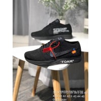 029600c441869 OFF-WHITE X Nike Flyknit Racer AA526628-100 Flyknit Woven Running Shoes  Series Black