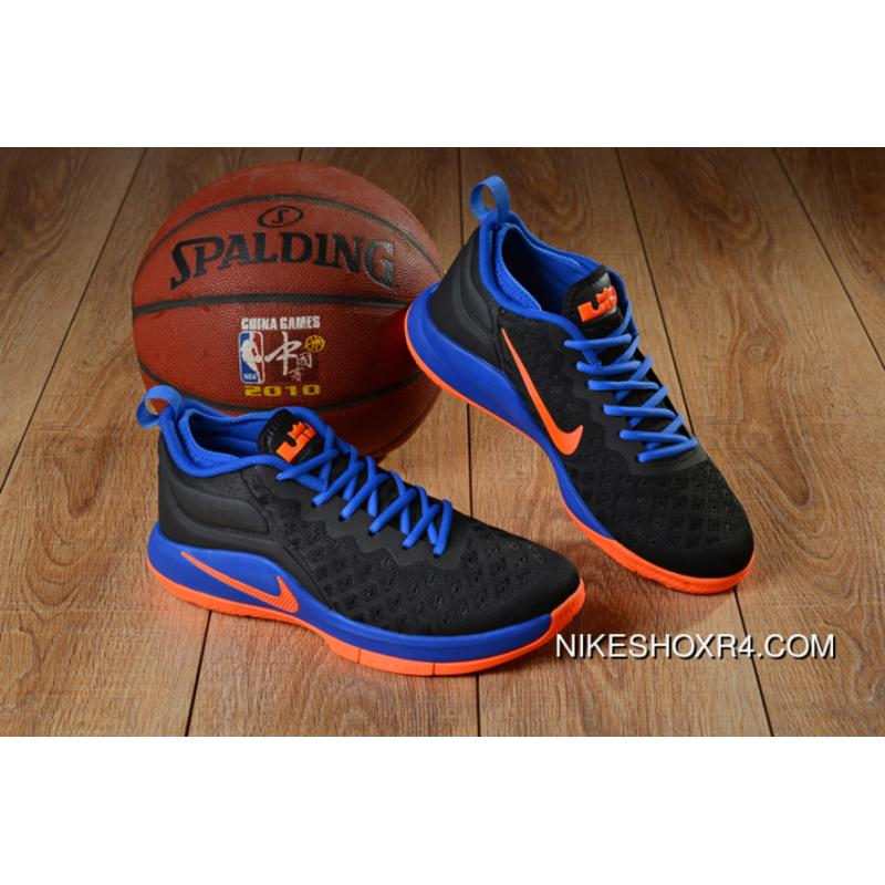 6131cf9870a Nike LeBron Witness 2 Flyknit Black Royal Blue-Orange Best