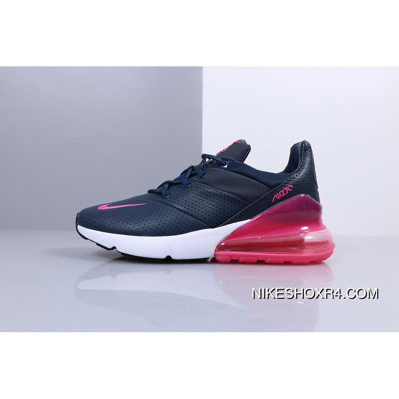 c0f0a14ef76 Women Shoes Nike Air Max 270 Premium Match Leather Surface Series Heel Half-Palm  Cushion ...