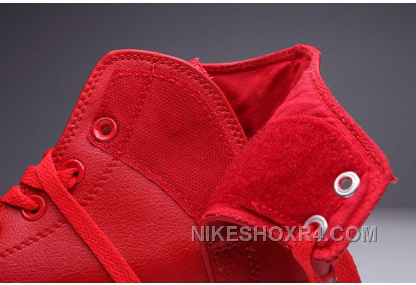 d2eb00c072ee69 All Red All Star CONVERSE Leather Side Velcro High Tops Lastest YkjMQ