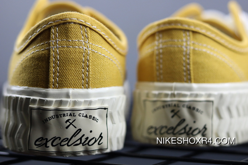 129a4f404bb7 Excelsior New Card Color Korean National Tide Shoes Caramel Biscuits Canvas  Shoes Raw Rubber Yellow Super
