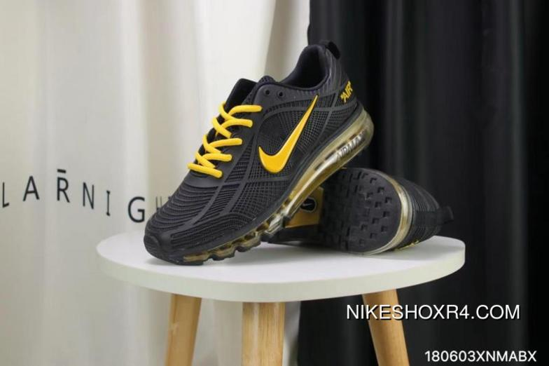 793ca2ea61536 Nike Full-palm Cushion Air Max 2019 Black Yellow Discount, Price ...