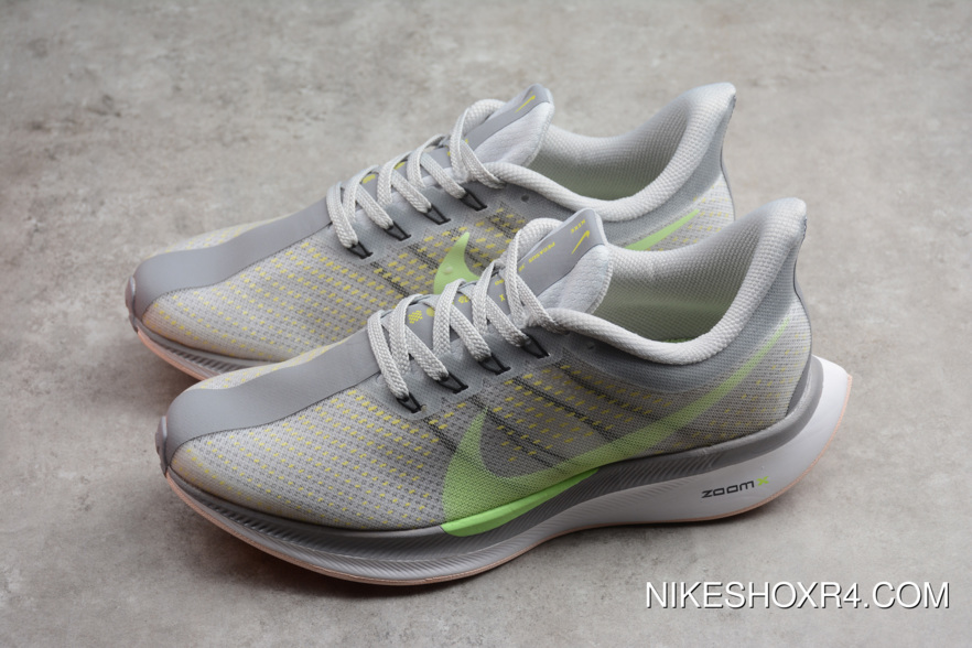 7359a35a8e887 Nike Air Zoom Pegasus 35 Turbo 2.0 Light Grey Green Aj4115-301 Latest
